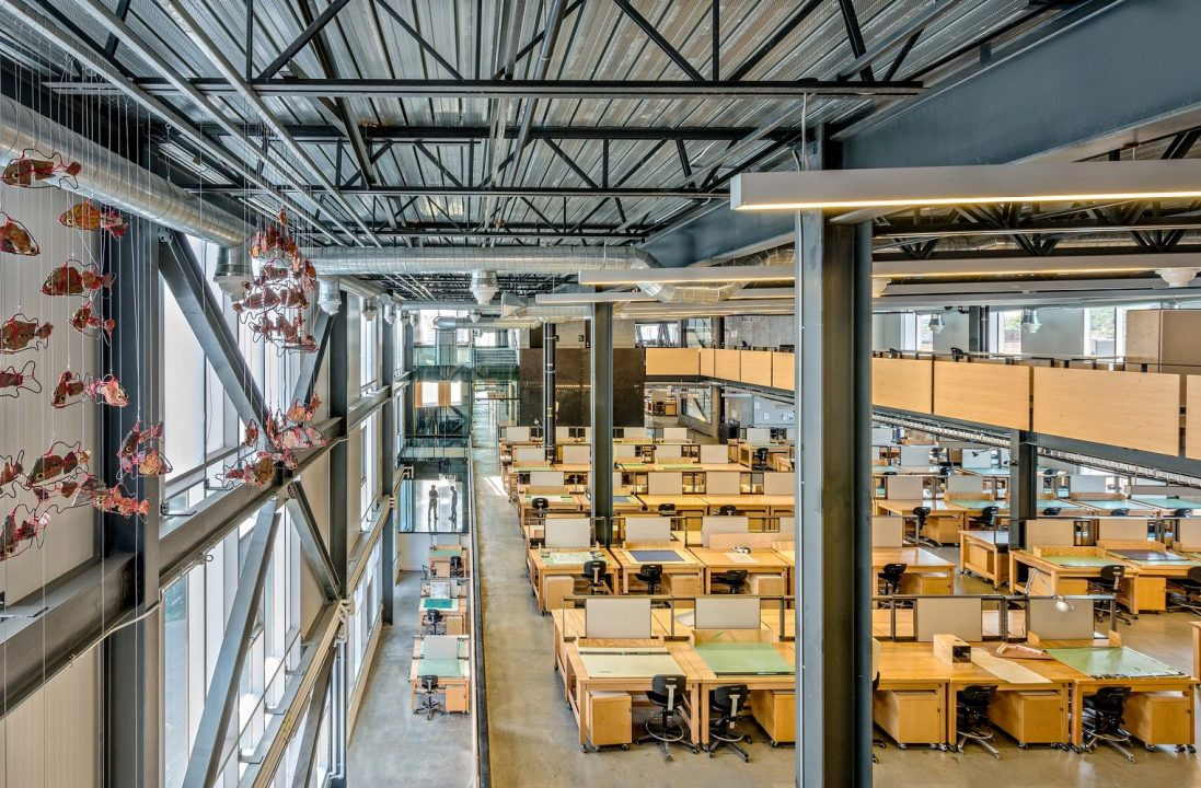 Photograph of the McEwen School of Architecture's student studio